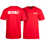 Bones® Bearings Swiss Text T-Shirt - Red