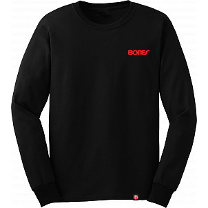 Bones Bearings Text L/S Black